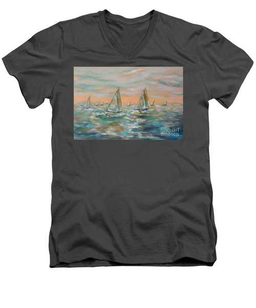 Ocean Regatta Men's V-Neck T-Shirt
