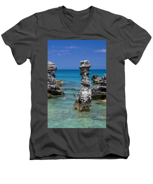 Ocean Rock Formations Men's V-Neck T-Shirt