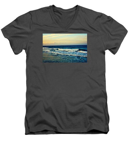 Ocean Men's V-Neck T-Shirt by Artists With Autism Inc