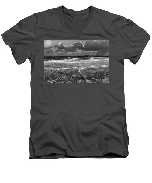 Men's V-Neck T-Shirt featuring the photograph Ocean Storms by Nicholas Burningham