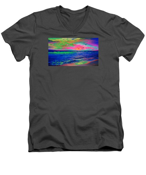 Ocean Sunset 2 Men's V-Neck T-Shirt