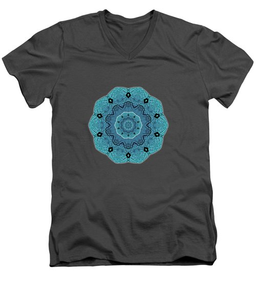 Ocean Swell Abstract Painting By V.kelly Men's V-Neck T-Shirt
