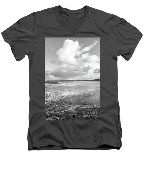 Men's V-Neck T-Shirt featuring the photograph Ocean Texture Study by Nicholas Burningham