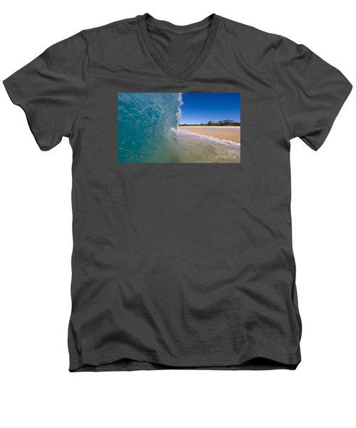 Ocean Wave Barrel Men's V-Neck T-Shirt