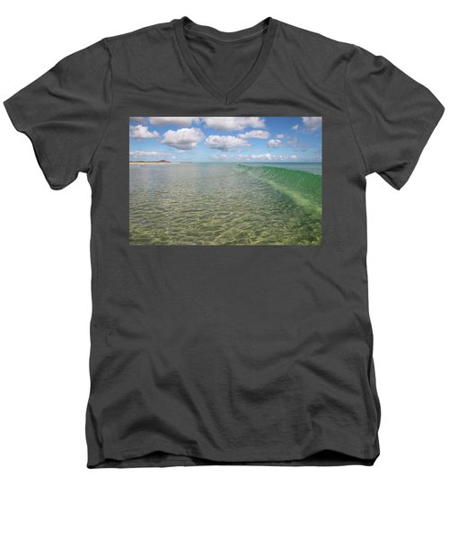Ocean Waves And Clouds Rollin' By Men's V-Neck T-Shirt