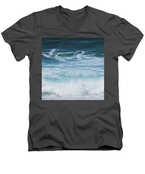 Men's V-Neck T-Shirt featuring the photograph Ocean Waves From The Depths Of The Stars by Sharon Mau
