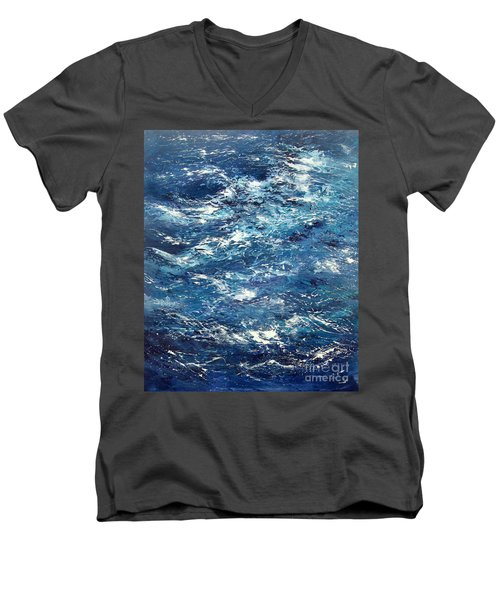 Ocean's Blue Men's V-Neck T-Shirt