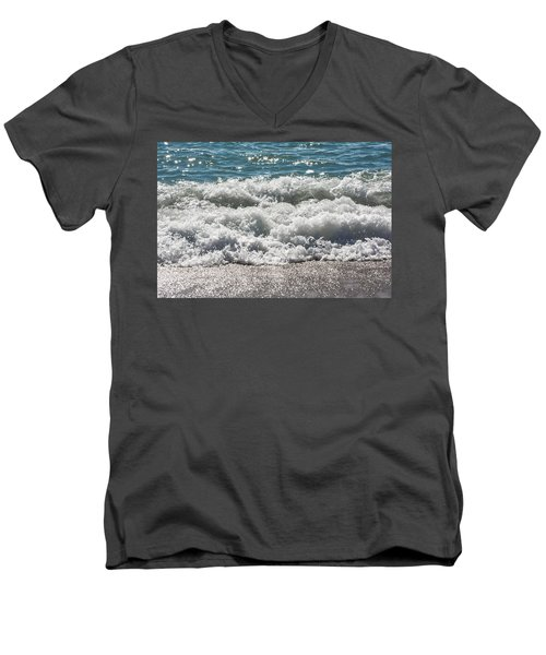 Men's V-Neck T-Shirt featuring the photograph Oceans Layers by Colleen Coccia