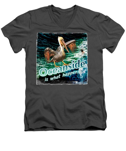 Oceanside Happens Men's V-Neck T-Shirt