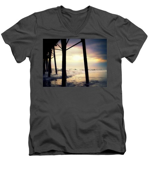 Men's V-Neck T-Shirt featuring the photograph Oceanside - Late Afternoon by Glenn McCarthy