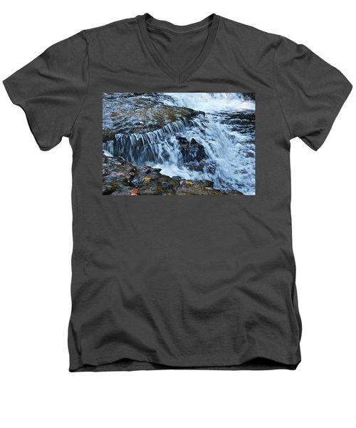 Ocqueoc Falls_9542 Men's V-Neck T-Shirt by Michael Peychich