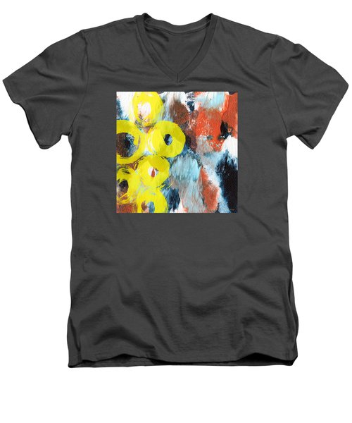 October- Abstract Art By Linda Woods Men's V-Neck T-Shirt