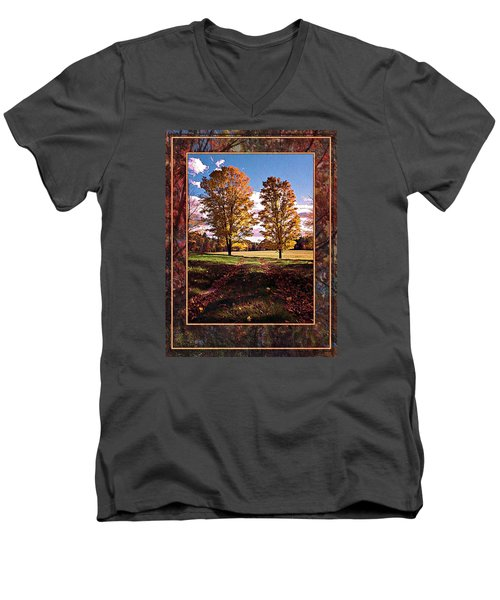 October Afternoon Beauty Men's V-Neck T-Shirt by Joy Nichols
