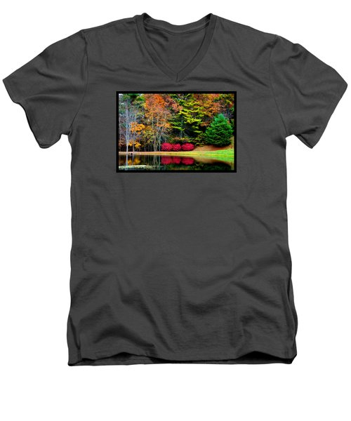 October Afternoon In The Blue Ridge Mountains Men's V-Neck T-Shirt by Susanne Still