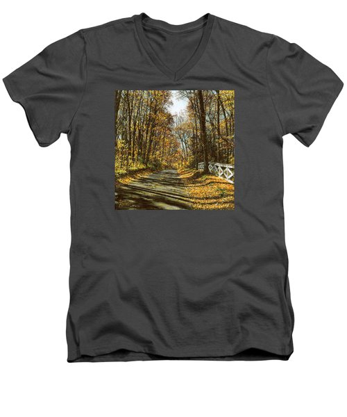 October Backroad Men's V-Neck T-Shirt by Doug Kreuger
