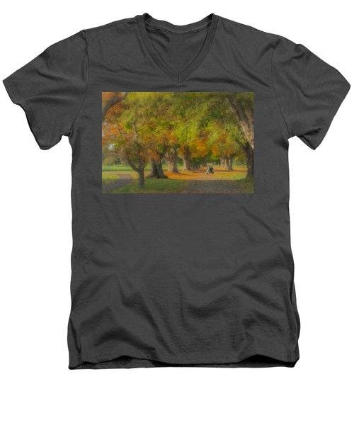 October Morning At Easton Country Club Men's V-Neck T-Shirt