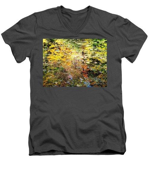 October Pond Men's V-Neck T-Shirt by Melissa Stoudt