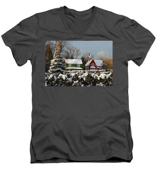 October Snow Men's V-Neck T-Shirt
