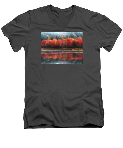 October Trees - Autumn  Men's V-Neck T-Shirt