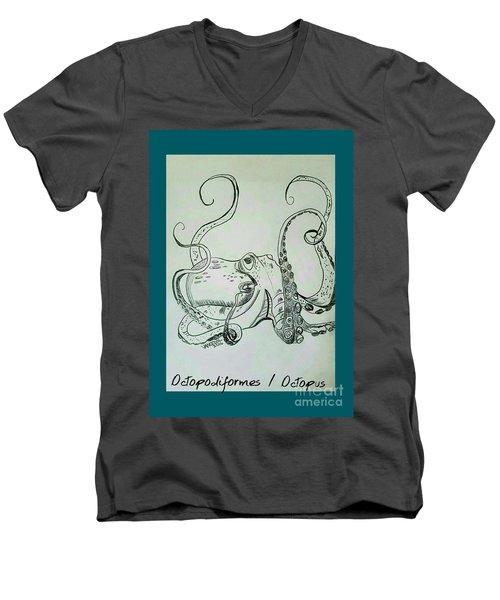 Octopodiformes Octopus Men's V-Neck T-Shirt by Scott D Van Osdol