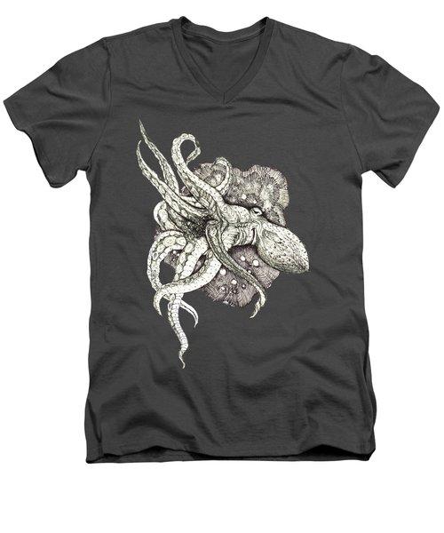 Octopus Men's V-Neck T-Shirt