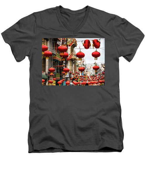 Red Lanterns Men's V-Neck T-Shirt