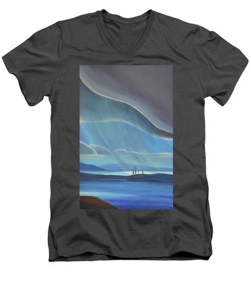 Ode To The North II - Rh Panel Men's V-Neck T-Shirt