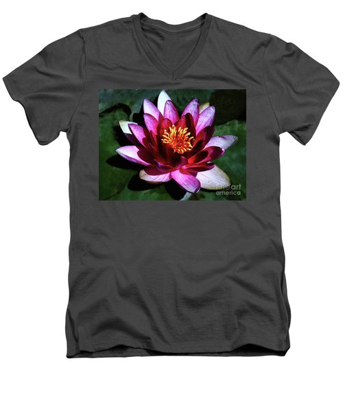 Ode To The Water Lily Men's V-Neck T-Shirt