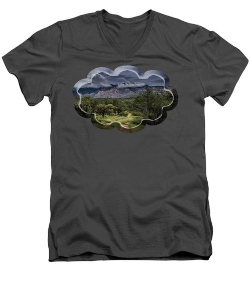 Odyssey Into Clouds Men's V-Neck T-Shirt by Mark Myhaver