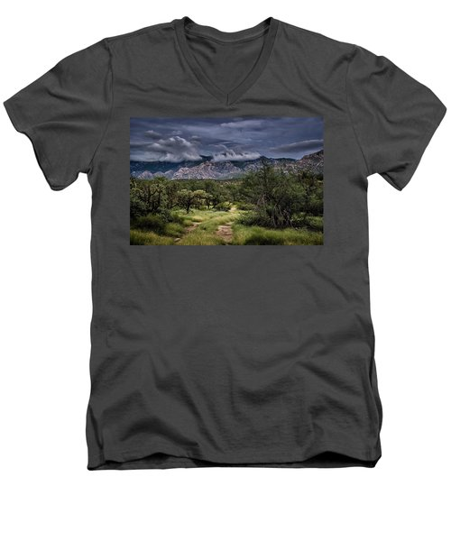 Odyssey Into Clouds Men's V-Neck T-Shirt