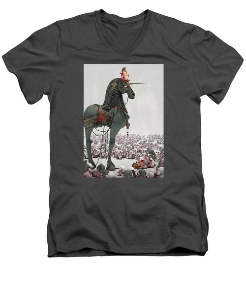 Offering Men's V-Neck T-Shirt by Te Hu