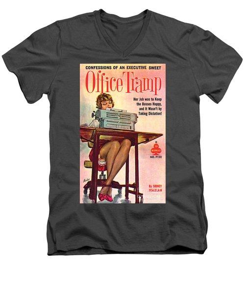 Office Tramp Men's V-Neck T-Shirt