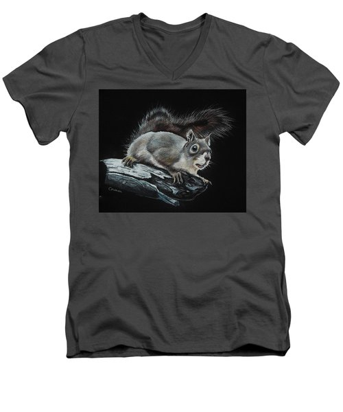 Oh Nuts  Men's V-Neck T-Shirt by Jean Cormier
