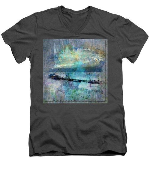 Ohio River Splatter Men's V-Neck T-Shirt