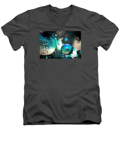 Men's V-Neck T-Shirt featuring the photograph Oil And Water 1 by Michaela Preston