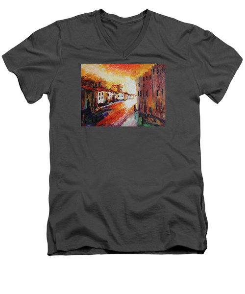 Oil Msc 013 Men's V-Neck T-Shirt