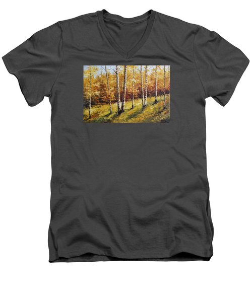 Oil Msc 028 Men's V-Neck T-Shirt