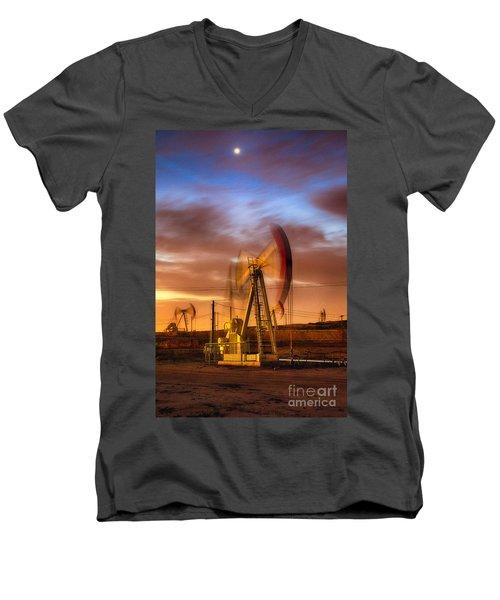 Oil Rig 1 Men's V-Neck T-Shirt