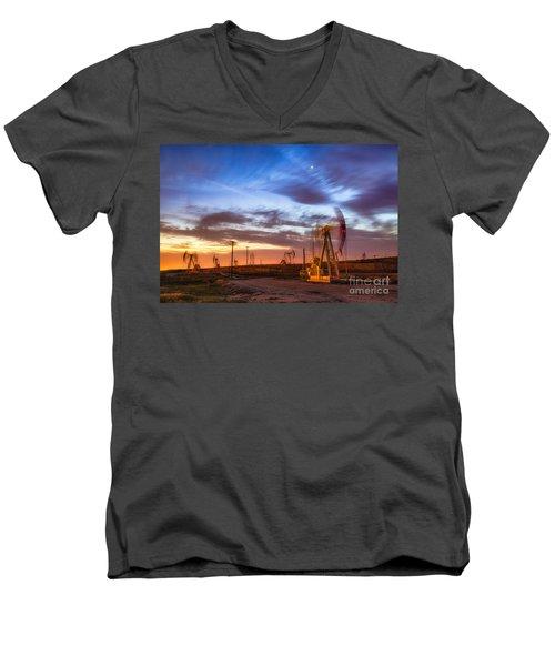 Oil Rigs 3 Men's V-Neck T-Shirt