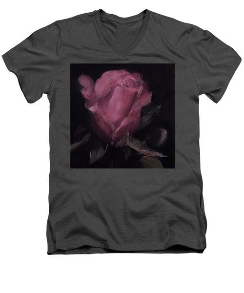 Oil Rose Painting Men's V-Neck T-Shirt by Michele Carter