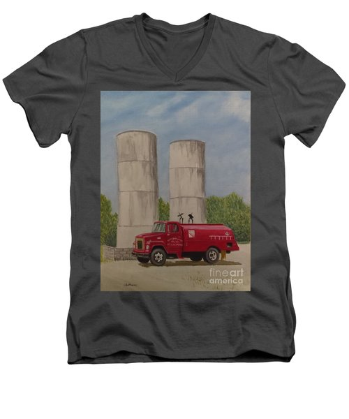 Oil Truck Men's V-Neck T-Shirt