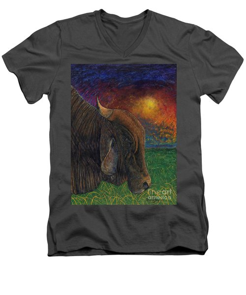 Okeechobee Brahman Men's V-Neck T-Shirt