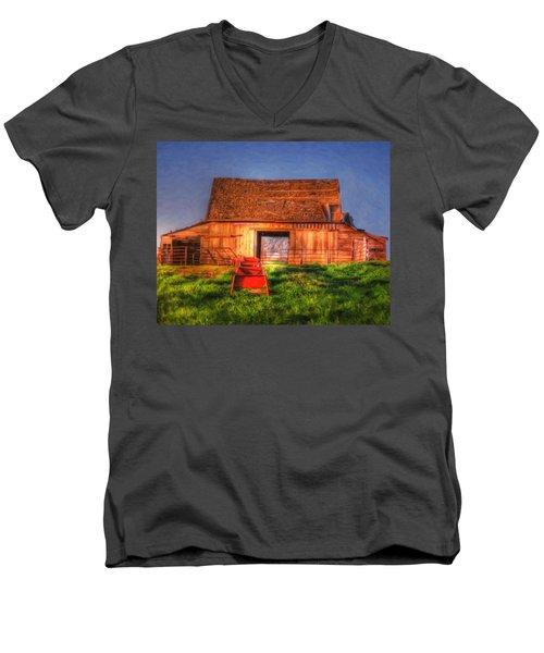 Oklahoma Barn Men's V-Neck T-Shirt