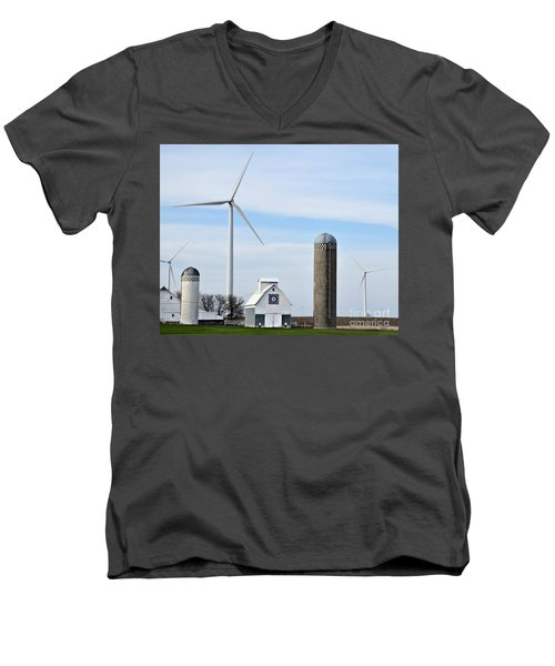 Old And New Farm Site Men's V-Neck T-Shirt by Kathy M Krause