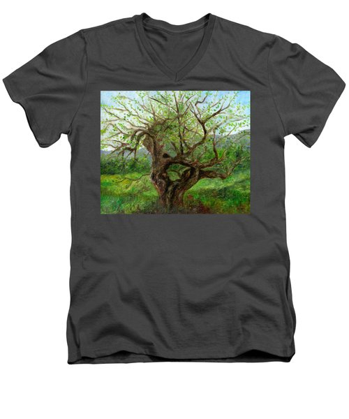 Old Apple Tree Men's V-Neck T-Shirt
