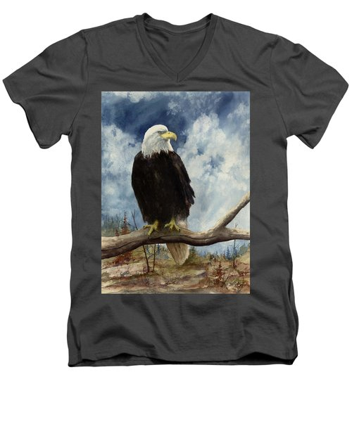 Old Baldy Men's V-Neck T-Shirt by Sam Sidders