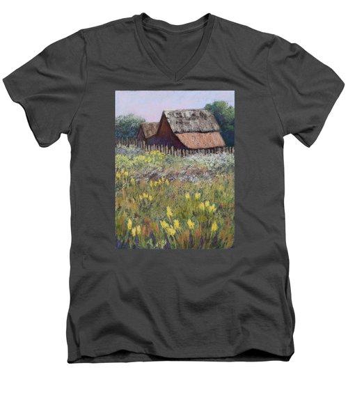 Old Barn In Spring Men's V-Neck T-Shirt