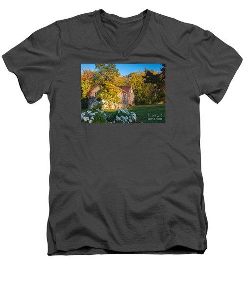 Old Beauty Men's V-Neck T-Shirt by Rima Biswas