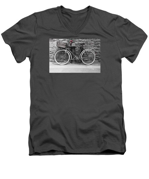 Old Bicycle Men's V-Neck T-Shirt by Helen Northcott