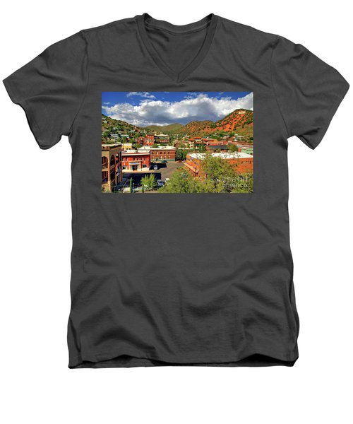 Old Bisbee Arizona Men's V-Neck T-Shirt
